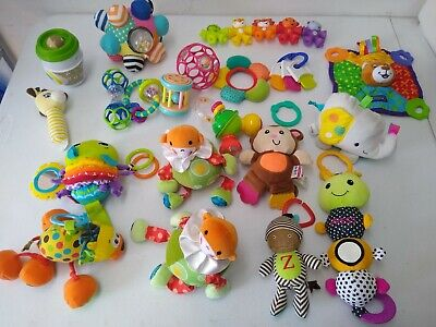 Mixed Lot of 21 Infant Baby Toddler Toys Sensory Play