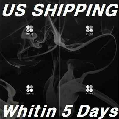 US SHIPPING BTS-Wings 2nd Album W I N G SELECT CD-96p PhotoBook-1p PhotoCard