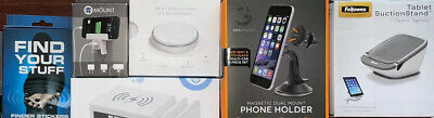 Phone Tablet Accessory Lot 8 Items Mounts - Wireless Charging Station   -MORE-