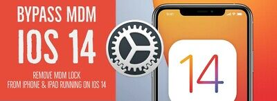 🎇IOS 14-4 APPLE IPHONE MDM BYPASS UNLOCK REMOTE PROFILE REMOVE - INSTANT
