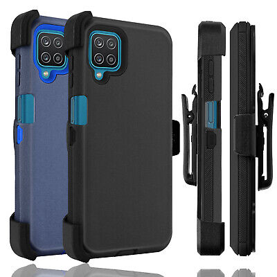 For Samsung Galaxy A12 A32 5G Case Holster Belt Clip Stand Heavy Duty Hard Cover