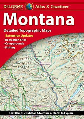 Montana State Atlas - Gazetteer by Delorme 2017 10th Edition