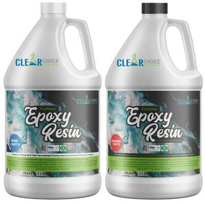 Crafters Clear Epoxy Resin for Small Castings Art and Coatings  - 1 Gallon Kit
