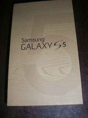 SAMSUNG GALAXY S5 - NO PHONE - BOX WITH INFO - NIP HEADPHONES - BOX ONLY