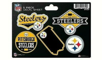 Pittsburgh Steelers 5 Piece Decal  Sticker Sheet Free Shipping