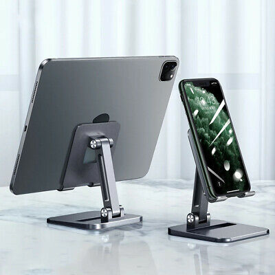 Foldable Metal Phone Tablet Holder Stand For iPad Pro 12-9 11 iPhone 12 Samsung