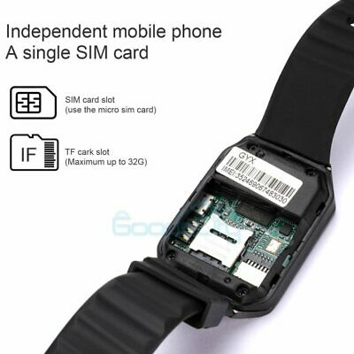 Waterproof Bluetooth Smart Watch wCam Phone Mate For iphone IOS Android Samsung