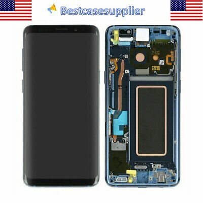 Blue For Samsung S9- SM-G965UU1 OEM LCD Display Touch Screen Digitizer - Frame