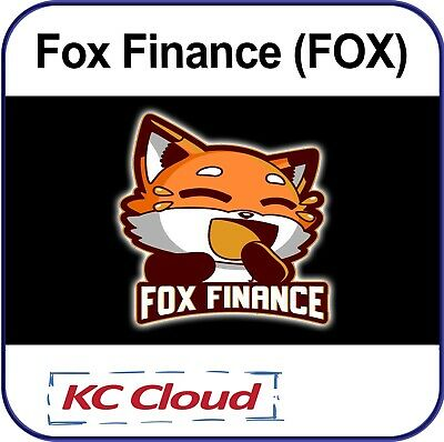 20000000 Fox Finance FOX Token Coins - Mining Contract - Crypto Currency