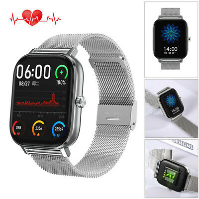 Bluetooth Smart Watch ECG Heart Rate Monitor Sport Phone Mate for iPhone Android