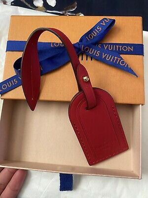 LOUIS VUITTON Red Luggage Tag