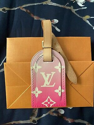 LOUIS VUITTON Pink Ombré Luggage Tag