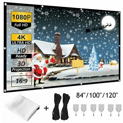 84100120 Portable Foldable Wall Projector Screen 169 Home Theater Outdoor