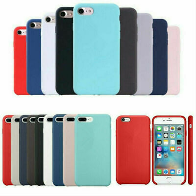 Silicone Case for Apple iPhone 66s 78 Plus X Xs XR Xs Max Shockproof Cover