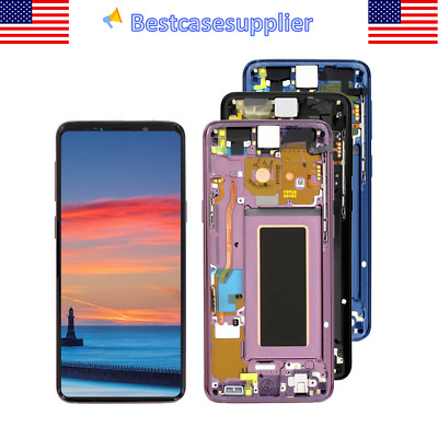 For Samsung S9 SM-G960FDS SM-G960A OEM LCD Display Touch Screen Digitizer Frame