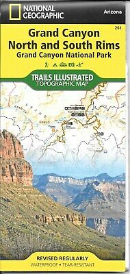 Map of Grand Canyon North and South Rims Arizona by National Geographic 261