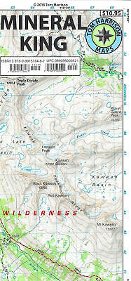 Mineral King Hiking Map Trail Map California by Tom Harrison Maps