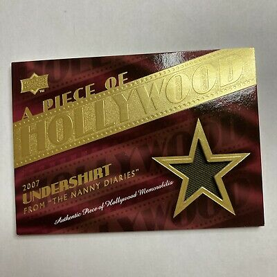 2008 UD Hollywood Scarlett Johansson The Nanny Diaries Costume Patch Relic Rare