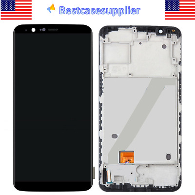 Black For Oneplus 5T A5010 6in LCD Display Touch Screen Digitizer Frame Assembly
