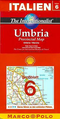 Map of Umbria Italy The Internationalist Series 6 by Marco Polo Maps