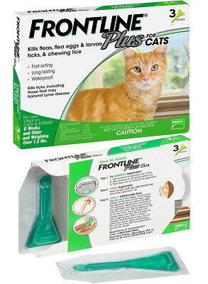 FRONTLINE Plus Flea and Tick for Cats Kittens - 3 Doses