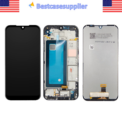 Black LCD Display Touch Screen Digitizer Frame For LG Tribute Monarch K300TM QC