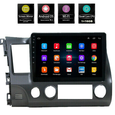 For Honda Civic 2006-2011 Android 10-1 Stereo Radio Car GPS 10-1 Touch Screen