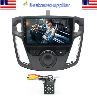 9 Android 10-1 Car Stereo Radio GPS 1-16G 8 LED Camera For Ford Focus 2012-2017