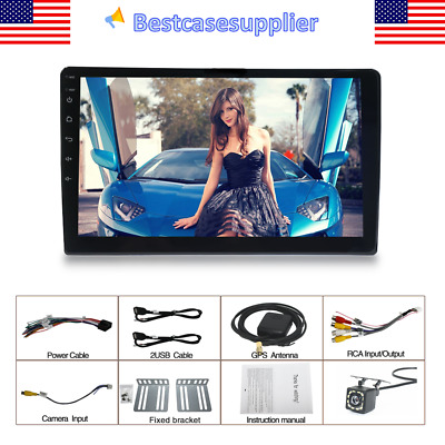 10-1in 1Din 2-16GB Android Touch Screen Car Stereo GPS FM Radio Bluetooth Camera