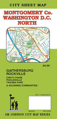 City Street Map of Montgomery Co- Maryland - Washington DC North by GMJ Maps
