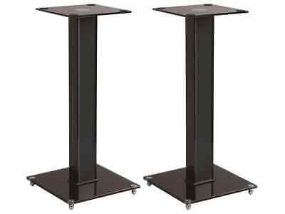 Monoprice Elements Speaker Stand - 18 Inch Pair With Cable Management