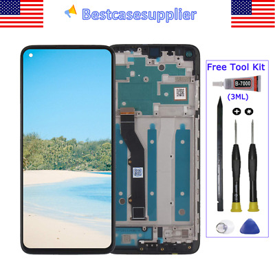 For Moto G9- Plus XT2087-1 XT2087-2 LCD Display Touch Screen Assembly Frame Tool