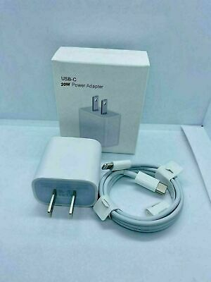For iPhone 121112 Pro MaxXRiPad Fast Charger 20W USB-C Power Adapter Cable