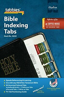 Tabbies Reflections Best Series Bible Indexing 90 Tabs Old - New Testaments NEW