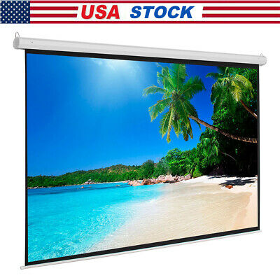 100 Inch Manual Pull Down Projector Projection Screen Theater Movie 43 Outdoor