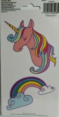 Unicorn and Rainbow Cell Phone Decals