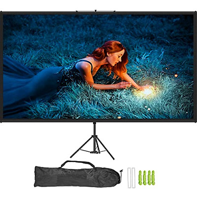 VEVOR Projector Screen with Stand 100 inch 169 HD 4K Outdoor Indoor Projection