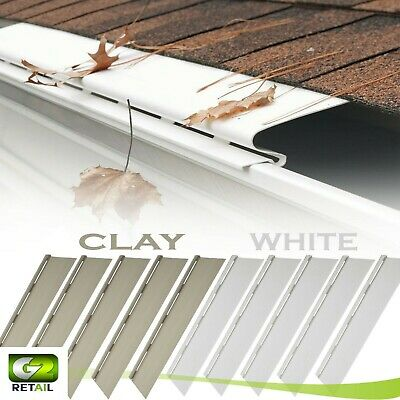 PACK OF SNAP-IN 4FT SOLID GUTTER GUARD Cover Screen Debris Leaf Protection Units