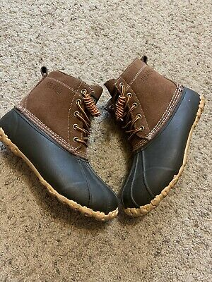 Red Head Brown Leather Rubber Thinsulate 200 Gram Lace Duck Boots Womens Size 8