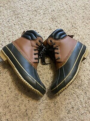 Crater Ridge Pike 3 Waterproof Boots Mens Size 8 Brown Leather Rubber Boots