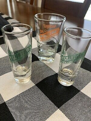 3 Doctor Dr McGillicuddys Mentholmint Country Schnapps Tall Double Shot Glasses