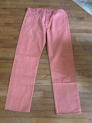 Levis 501 White Oak Cone Denim Salmon Jeans - 40x34 New Without Tags Button Fly