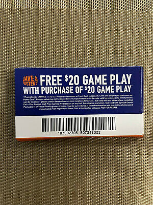 50 Dave and Busters D-B 20 gameplay with same purchase powercard EXP 7312022