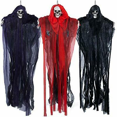 3 Pack Halloween Hanging Grim Reapers 27-6 Scary Clown Halloween Decorations