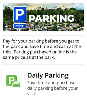 Any SIX FLAGS Park Magic Mountain Great America etc Day Parking Pass 2021