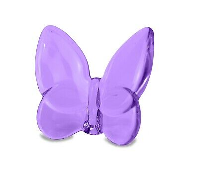 Baccarat Crystal Inspired Lucky Butterfly Purple