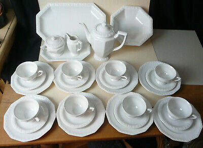 Rosenthal: Maria Weiß, Classic Rose Collection: Kaffeeservice 30 Teile, 8 Pers,