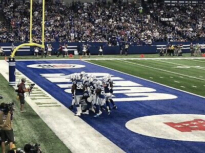 2 Indianapolis Colts vs Tennessee Titans Tickets 8th Row Aisle Seats LOOK