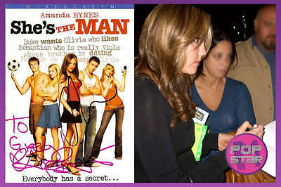 Amanda Bynes Channing Tatum SIGNED Shes The Man DVD COA