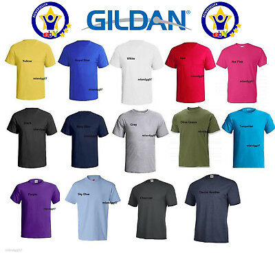 Gildan 5000 Adult Heavy Cotton T-Shirt Plain Man 100 Cotton First Quality Shirt